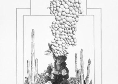 Bubble Headed Cowgirl by Jeanne Trueax