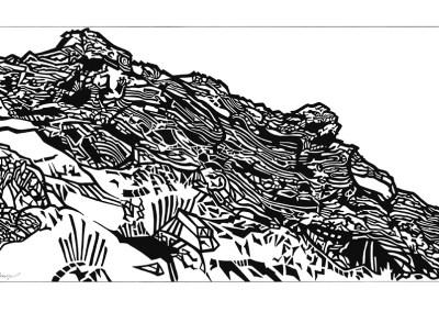 Rocky Hillside by Jeanne Trueax