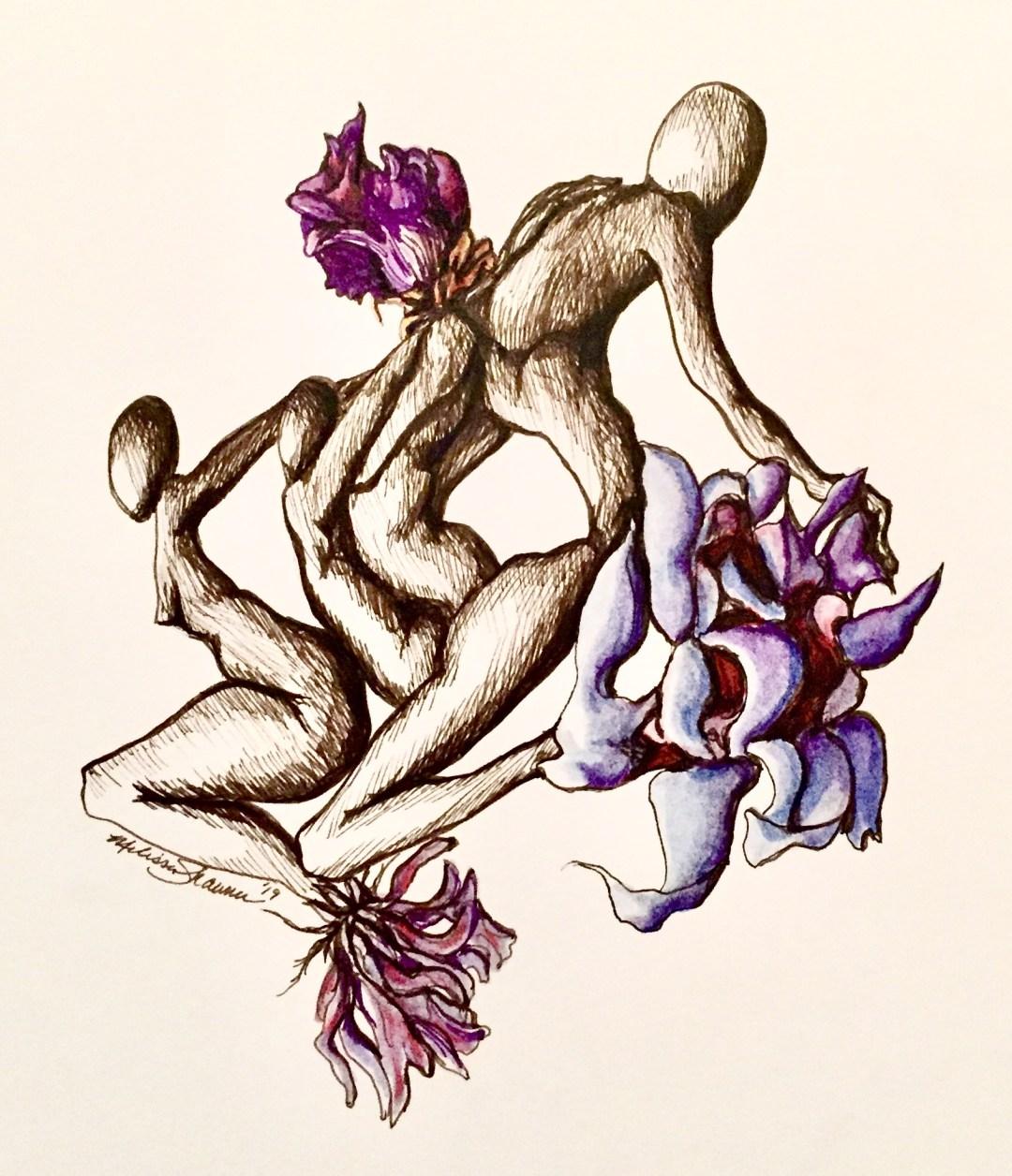 in bloom, by Melissa Shawnee