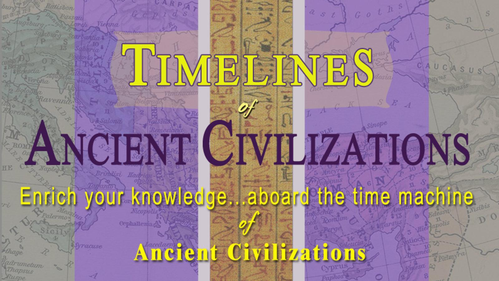 The Best Ancient Civilizations Timeline Printable