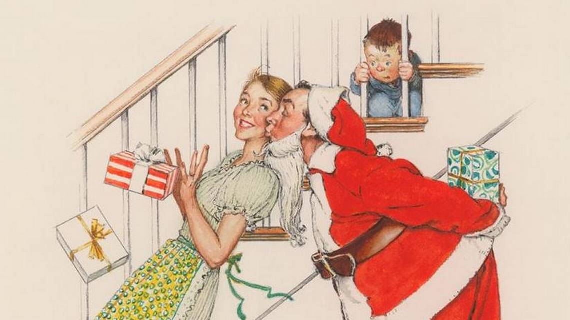 Norman Rockwell Christmas Art On Display At Hallmark The