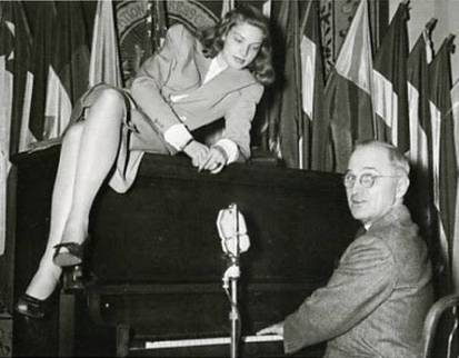 Image result for harry truman and lauren bacall
