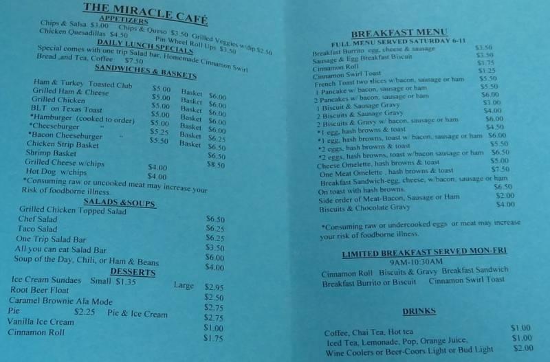 The Miracle Cafe Reading Kansas