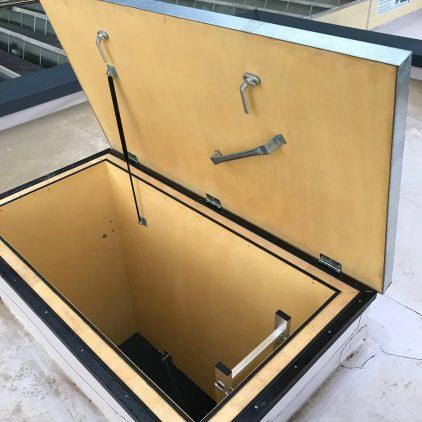 Dachluke Thermoisoliert U=0,52Scala per tetto piano termoisolata 0,52
