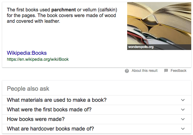 Example Featured Snippet and People also ask | Kanuka Digital