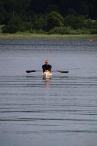 Eichi entspannt auf dem Woblitzsee