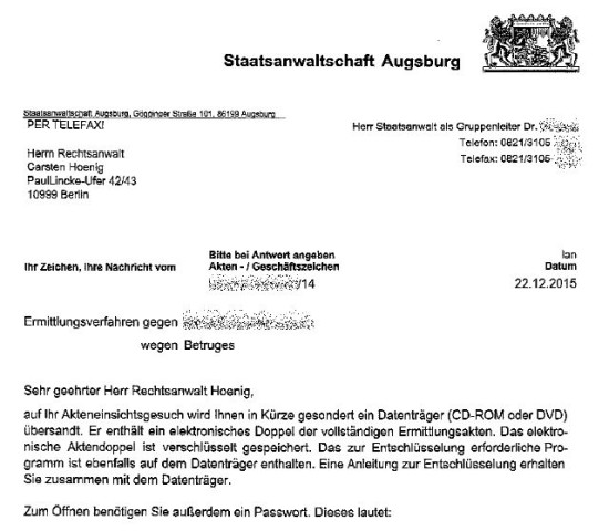 digitales aus augsburg - Einspruch Strafbefehl Muster