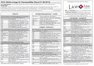 RVG Diktatvorlage 2013 / 2. Kostenrechtsmodernisierungsgesetz / 2. KostRMoG verabschiedet am 05.07.2013 - Anwaltssoftware Upgrade LawFirm 8.2r (RVG Diktatvorlage kostenlos zum Download)