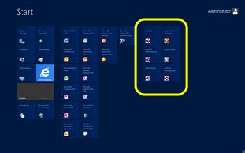 Windows Server 2012, Metro, Startbildschirm