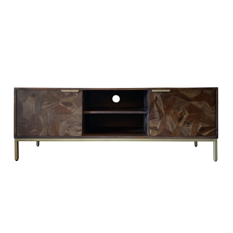 meuble tv marqueterie shisham