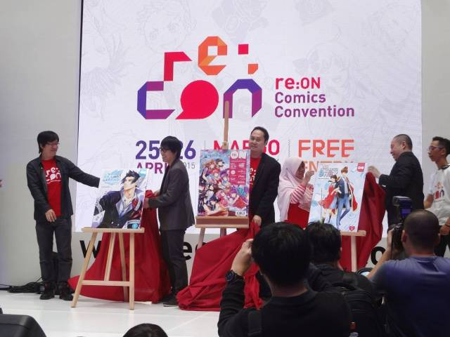 The launch of Me Vs Big Slacker Baby and The Grand Legend compiled volumes in re:CON
