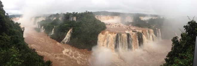 Panoramic of Iguazu from Brazil Side - Kapcha The World