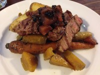 Beef and vegetables, The Agrestic Grocer, Orange Wine Tours