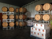 ine barrels and wine boxes at Orange Mountain Wines, Orange Wine Tours