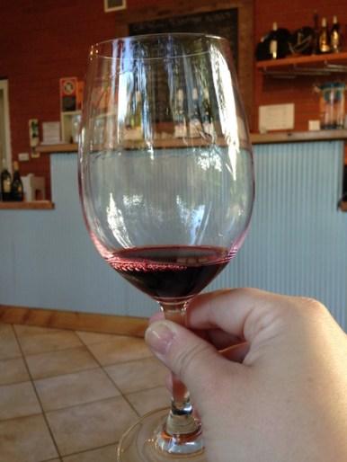 Wine Glass, Orange Mountain Wines, Orange Wine Tours