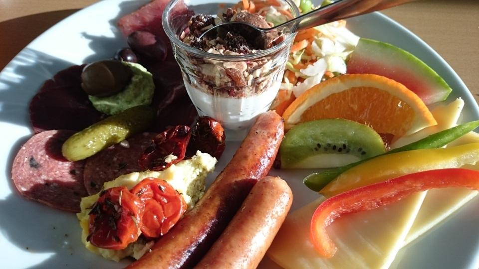 Frokost- oder Brunchteller zur Vernissage Bovbjerg Fyr