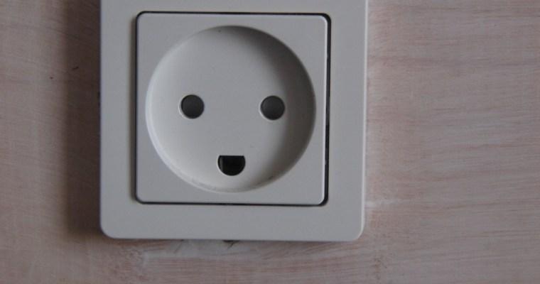 Den smilende stikkontakt – die lächelnde Steckdose