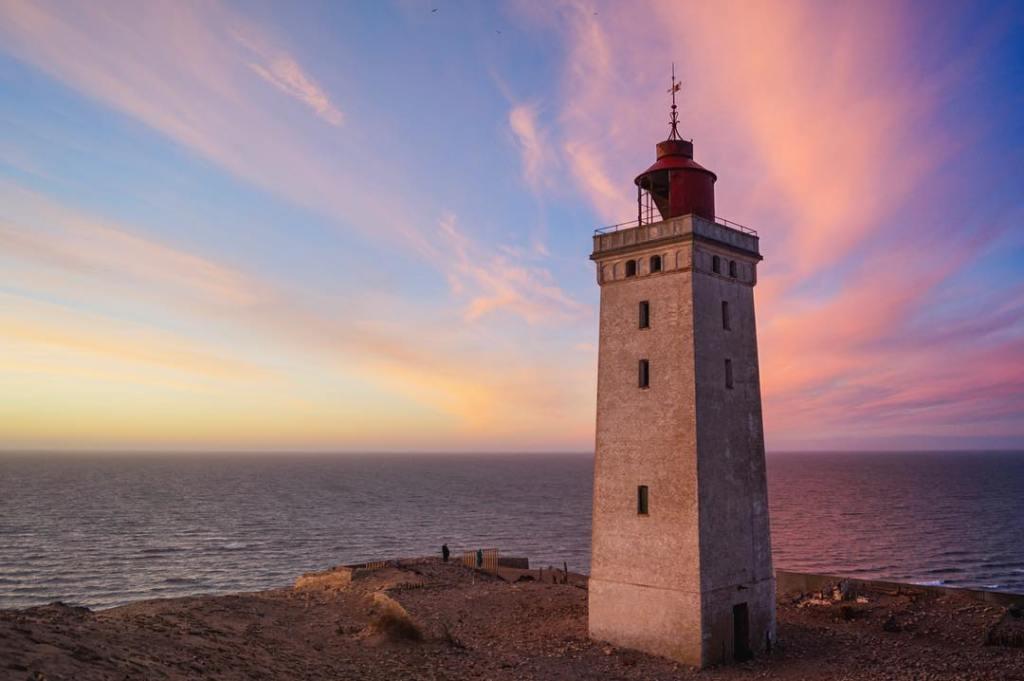 Rubjerg Knude Fyr bei Sonnenuntergang
