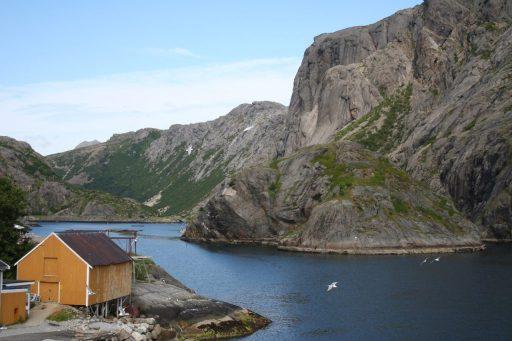 Ansicht norwegischer Fjord