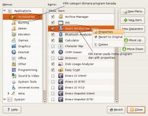 Gambar main menu Ubuntu