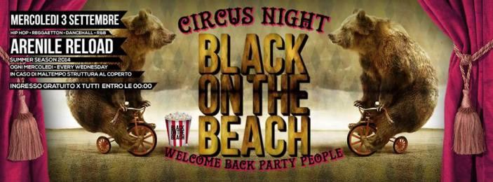 Napoli: Circus Night  al Black on the beach 2014