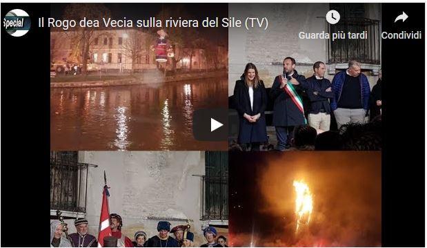 Il Rogo dea Vecia sulla riviera del Sile (TV)