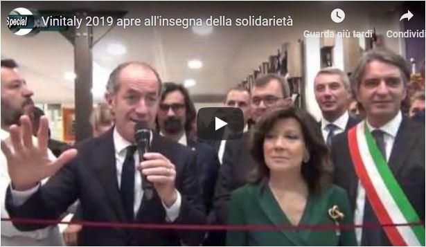Brindisi e solidarietà sono stati i temi principali di questa edizione del Vinitaly di Verona