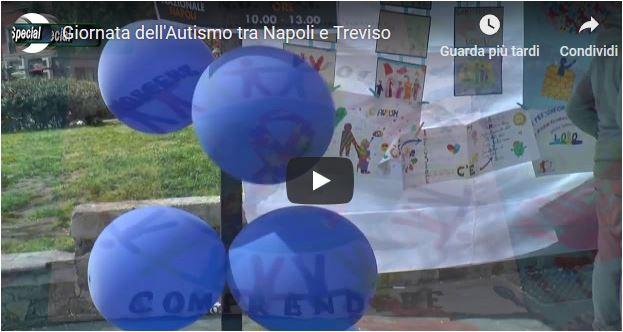 Giornata dell'autismo tra Napoli e Treviso