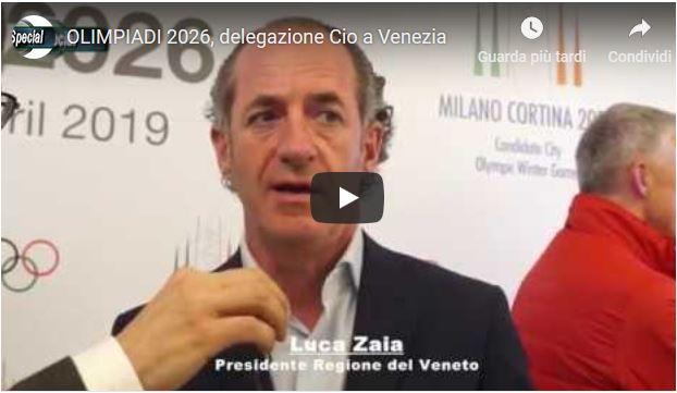 Olimpiadi 2026, la delegazione CIO a Venezia