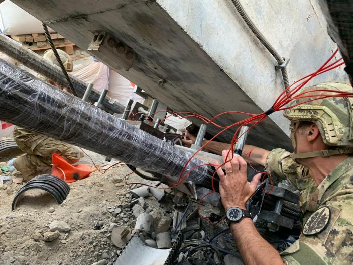 L'Esercito contribuisce alla demolizione del Ponte Morandi