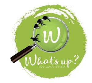 "Il logo ufficiale del format ""What's Up"" di Radio Alce"