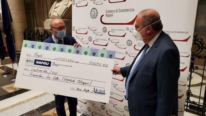 Consegnati in Camera di Commercio 60mila euro raccolti a favore della sanità campana