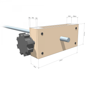 Fingerboard radius jig - Height adjuster