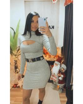 Vestido corto escote 1112