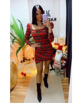 Vestido cuadros escoceses 2912