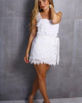 Vestido corto encajes 0405