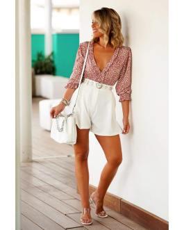 blusa escote lunares 1108