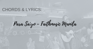para sayo faithmusic manila chords