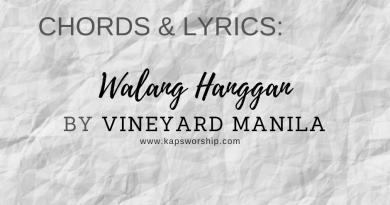 Walang Hanggan chords and lyrics by Vineyard Manila