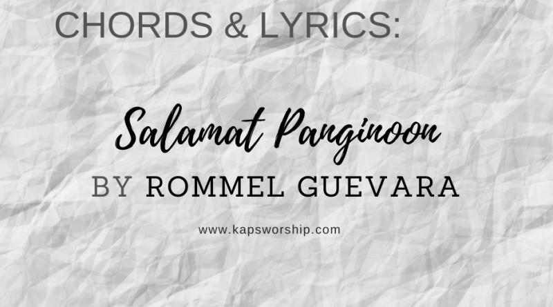 salamat panginoon chords and lyrics by rommel guevara