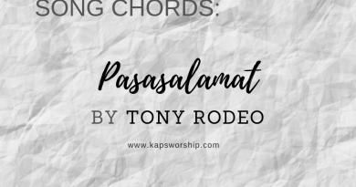 pasasalamat chords and lyrics tony rodeo