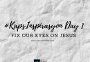 christian motivation tagalog fix our eyes on Jesus