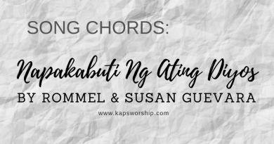 napakabuti ng ating Diyos chords