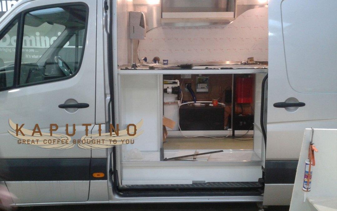 Kaputino Mobile Coffee Van Conversion nears completion