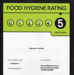 Kaputino Food Hygiene Rating 2013