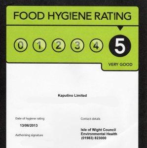 Kaputino Food Hygiene Rating 2013