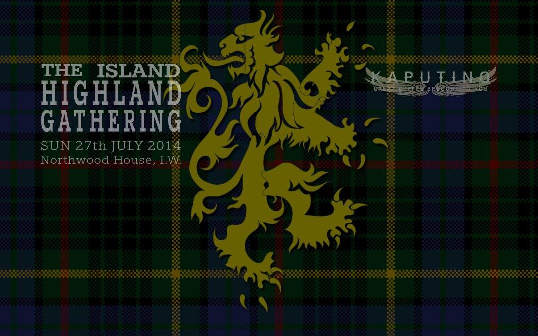 Island Highland Gathering 2014 with Kaputino coffee van