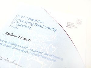 CIEH-Level-3-Awards-in-Food-Safety-in-Food-Catering-with-merit-for-Kaputino-Director,-Andrew-Cooper