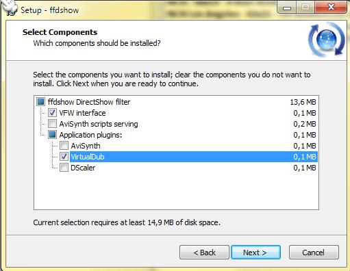 VirtualDub: Use ffdshow filters in VirtualDub
