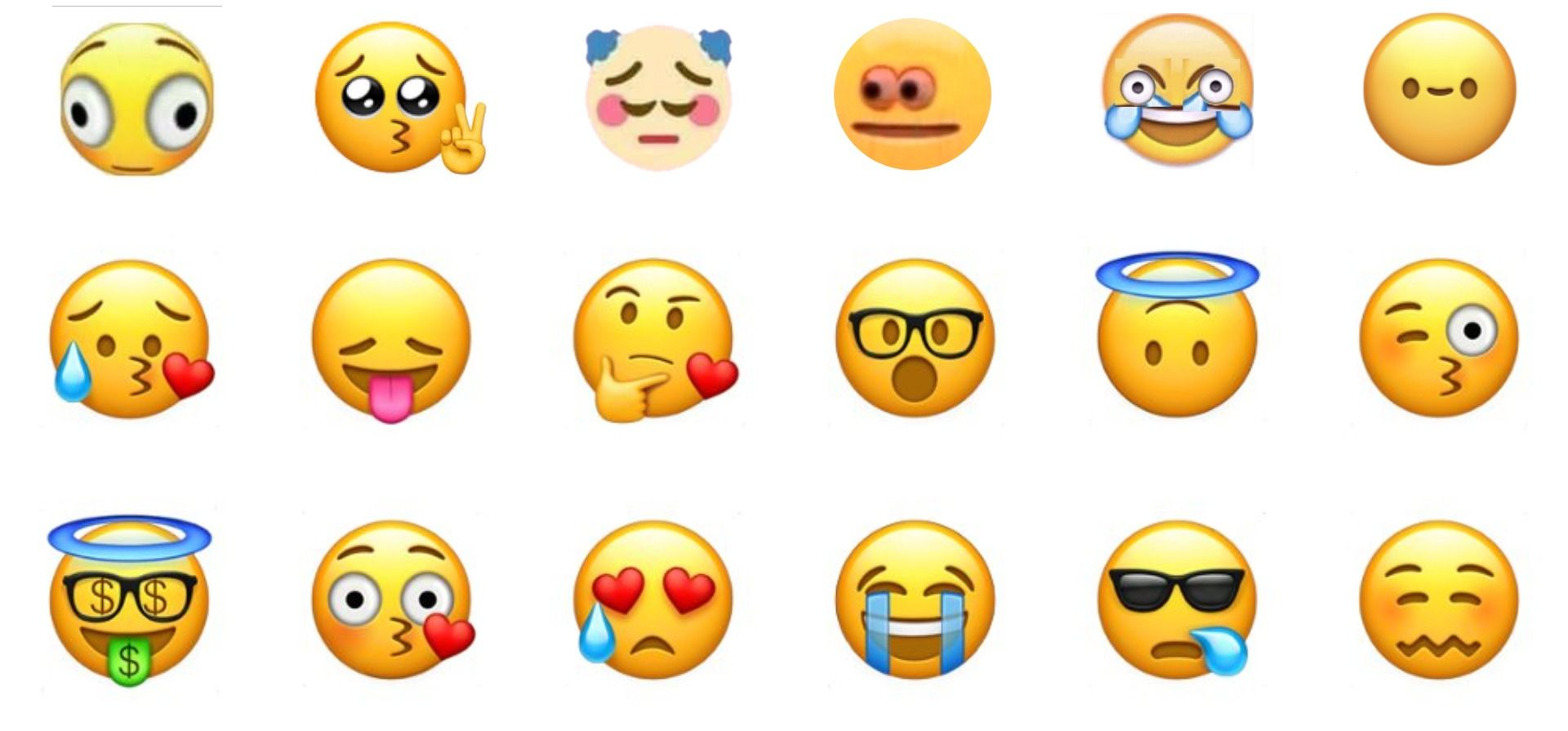 A Thinking Emoji Emoticon Smiley Face Character Looking Interested
